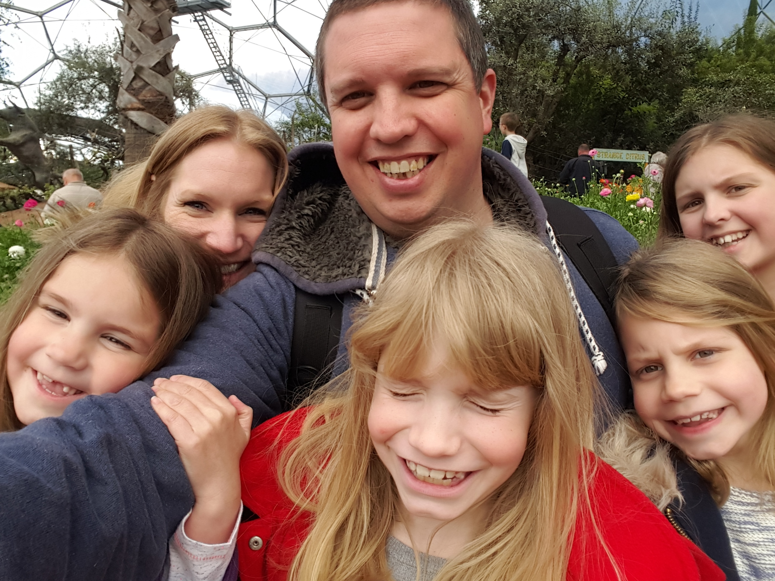 The only way we can get a photo of all six of us together is to take a selfie!