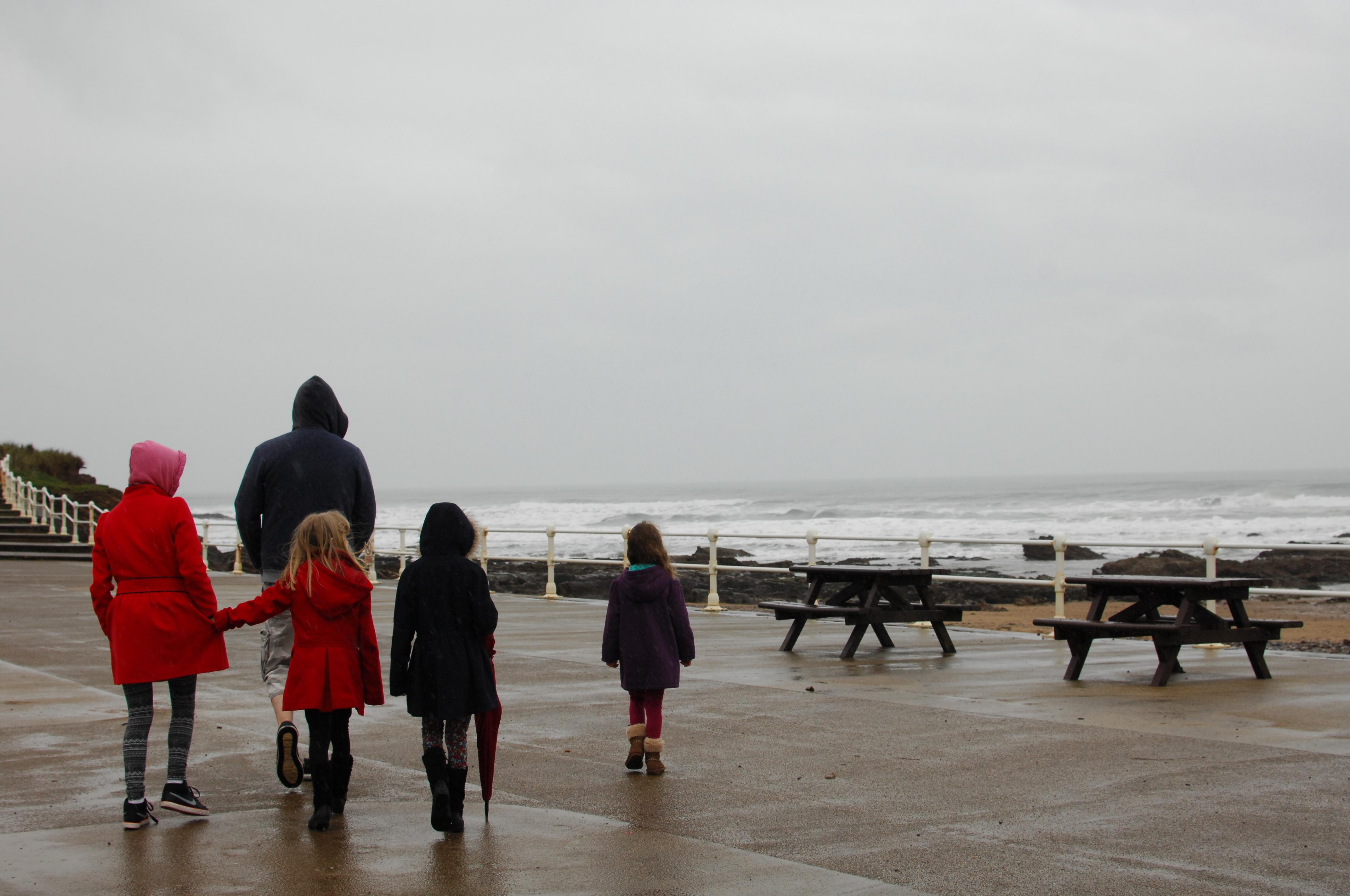 The sea was pretty rough!