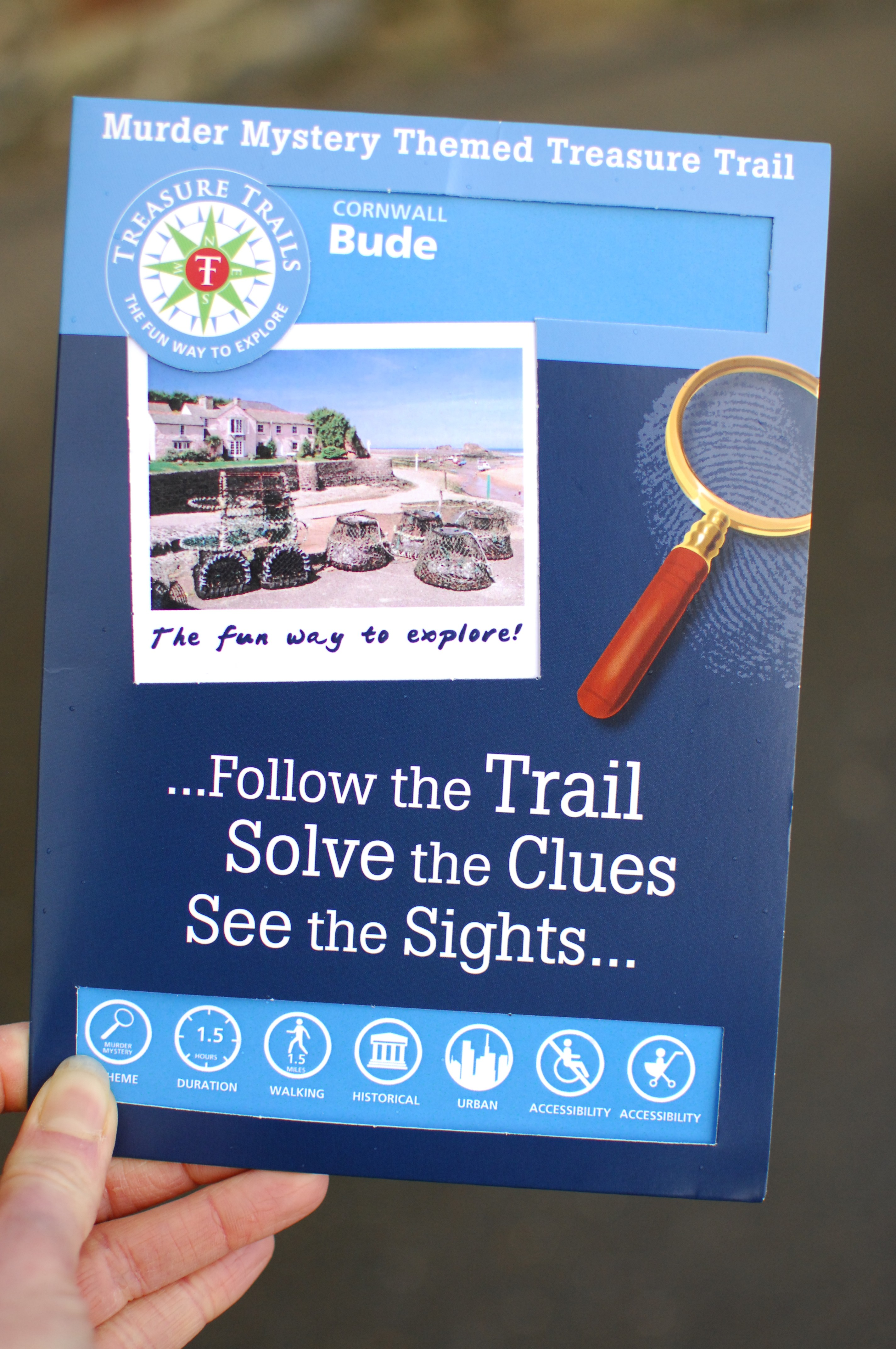The Bude Treasure Trail pack, available from the Tourist Information Centre