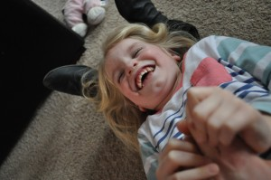Day 12: A tickle fight with Mimi (I won!)