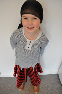 Day 31: Lola dressed up ready for a 'Pirates and Princesses' birthday party - I love that she chose to go as a pirate instead of a princess!