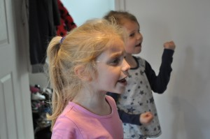Day 51:  Singing their hearts out to 'Let it go' from 'Frozen'