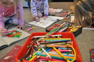 Day 52:  A creative morning of colouring fun
