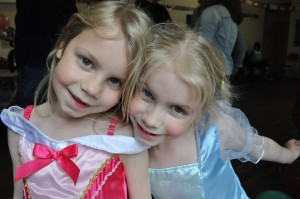 Day 53:  Dressed up as princesses for a super-fun birthday party