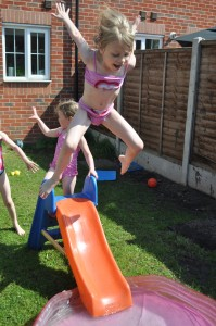Day 74:  Paddling pool fun-in-the-sun :)