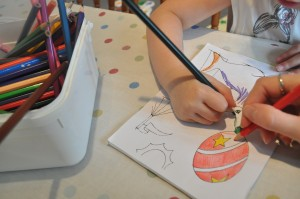 Day 125:  Early morning colouring with my littlest girl