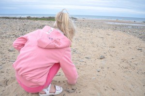 Day 172:  Hunting for shells on Crooklets Beach