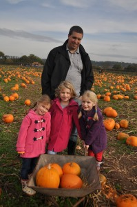 Day 239:  A family outing to the pumpkin farm to choose our pumpkins :)