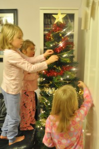 Day 281:  Putting up the Christmas decorations