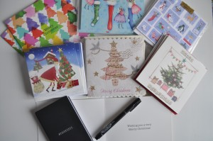 Day 284:  Finally sitting down to write some Christmas cards and snail-mail letters to loved ones