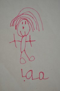 Day 313:  This smiley little picture drawn by my five year old :)
