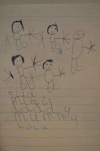 Day 341:  This drawing created by Lola (age 5)