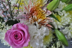 Day 345:  A gorgeous bouquet of flowers from my husband to help me feel better