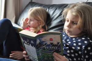 Day 347:  I introduced Ella to 'The Hobbit' today as she has run out of things to read.  Can't wait to re-experience the magic with her.
