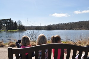 Day 404:  A picnic with the girls overlooking the lake at Trentham Gardens followed by looking for treasure in the fountains, playing in the adventure playground and eating ice cream in the sunshine