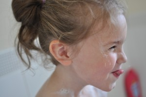 Day 433:  Bath-time silliness