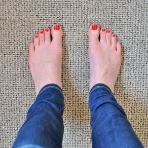 Day 464:  I painted my toenails!  (It happens approximately twice a year - at most - so this was a momentous occasion.  My favourite colour too :)
