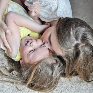 Day 452:  Sophie is fantastic with her sisters.  Tickle fights are one of her specialities :)