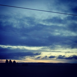 Day 315:  Sunrise from the train on the way to London