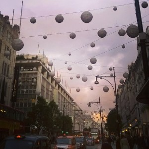 Day 245:  Had a sneaky wander down Oxford Street in between clients today and the Christmas lights are up!