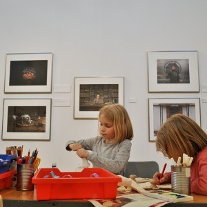 Day 395:  Easter crafts at the Shire Hall Gallery meant the girls got to be creative and messy, while I got to explore a photography exhibition #winwin