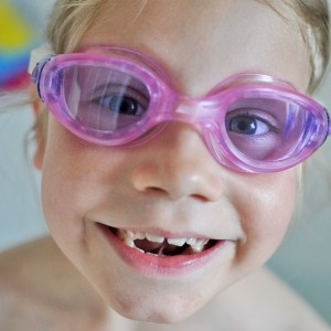 Day 475:  This one and her sister have just started swimming lessons.  Their teacher told us to get some goggles so they can practice putting their faces in the water and blowing bubbles in the bath.  Bath-times just instantly became much more fun!