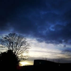 Day 320:  Dramatic sky on the school run this morning