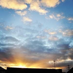 Day 327:  Stunning sunrise - a good way to start a Monday!