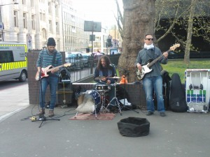 Day 35:  Awesome band outside Euston station (and I even had 5 minutes to spare to stay and listen to them)